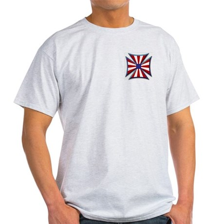 American Maltese Cross Ash Grey T-Shirt