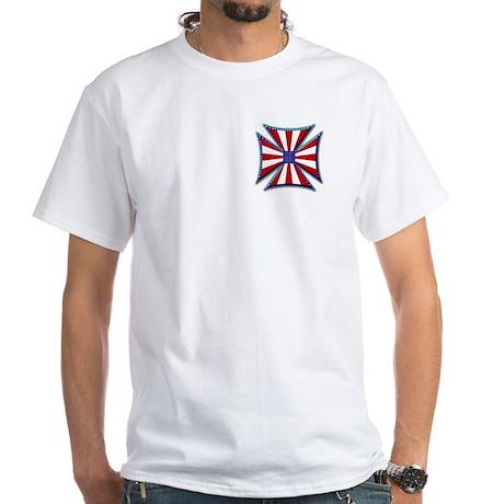 American Maltese Cross White T-Shirt