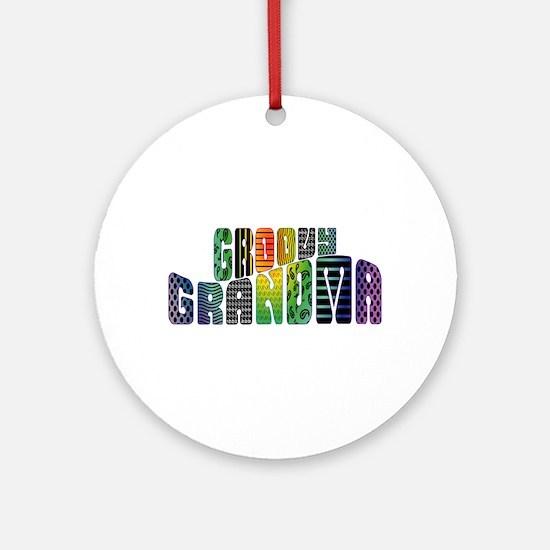 Groovy Granny Keepsake (Round)