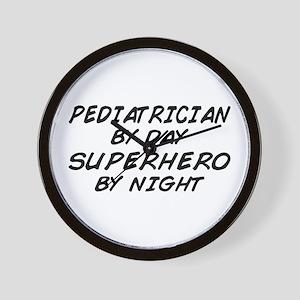 Pediatrician Superhero Wall Clock