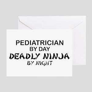 Pediatrician Deadly Ninja Greeting Cards (Pk of 10