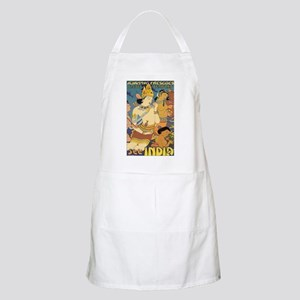 See India Travel Poster Light Apron
