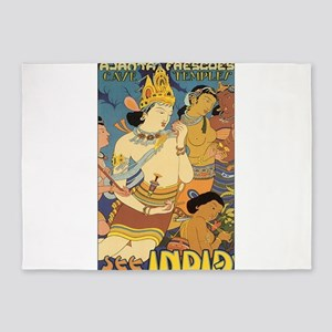 See India Travel Poster 5'x7'Area Rug