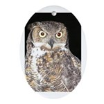 Great Horned Owl Oval Ornament
