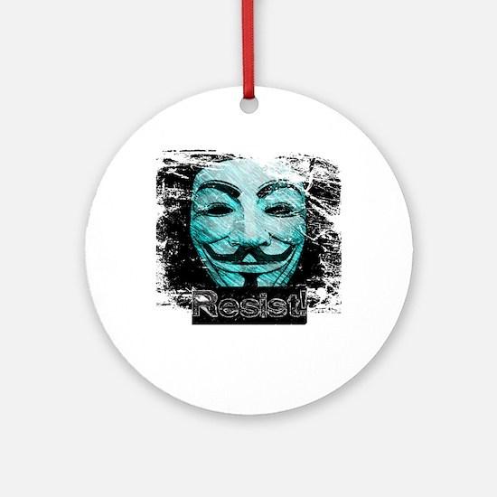 V Resist Merchandise Round Ornament