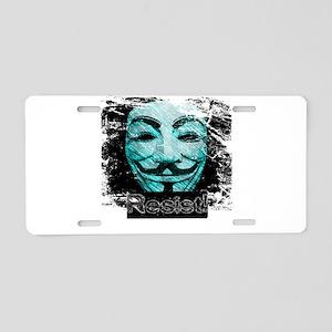 V Resist Merchandise Aluminum License Plate