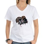 Wild Turkey Pair Women's V-Neck T-Shirt