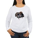 Wild Turkey Pair Women's Long Sleeve T-Shirt