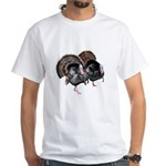 Wild Turkey Pair White T-Shirt