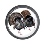 Wild Turkey Pair Wall Clock