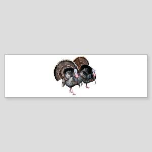 Wild Turkey Pair Bumper Sticker