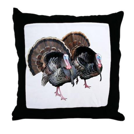 Wild Turkey Pair Throw Pillow