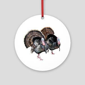 Wild Turkey Pair Ornament (Round)