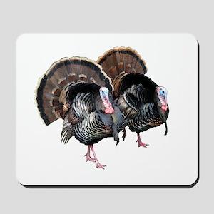 Wild Turkey Pair Mousepad