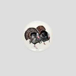 Wild Turkey Pair Mini Button