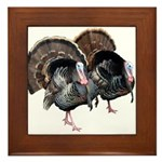Wild Turkey Pair Framed Tile