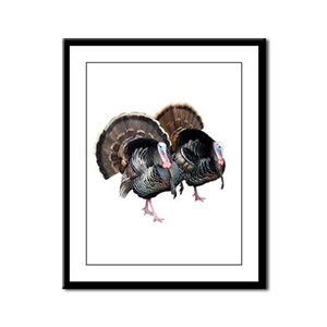 Wild Turkey Pair Framed Panel Print