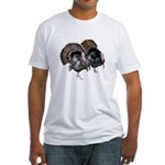 Wild Turkey Pair Fitted T-Shirt