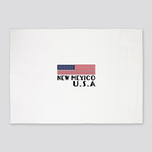 New Mexico U.S.A State Designs 5'x7'Area Rug