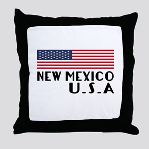 New Mexico U.S.A State Designs Throw Pillow