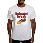 Designated Drunk Ash Grey T-Shirt