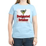 Designated Drinker Women's Pink T-Shirt