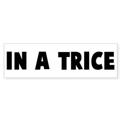 In a trice Bumper Bumper Sticker