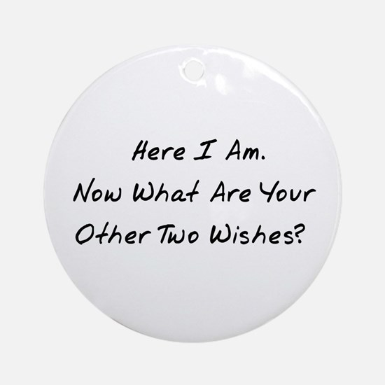 Three Wishes Ornament (Round)