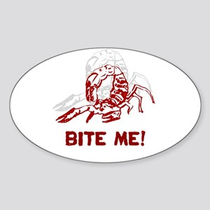 Scorpion w/ Bite Me! Oval Sticker