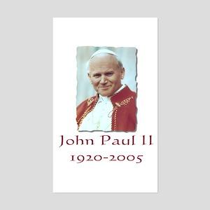 John Paul II - Design II Rectangle Sticker
