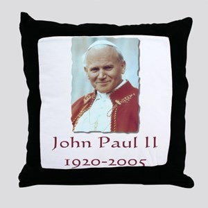 John Paul II - Design II Throw Pillow