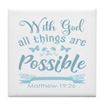 With God Tile Coaster