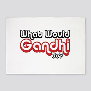 WHAT WOULD GANDHI DO? 5'x7'Area Rug