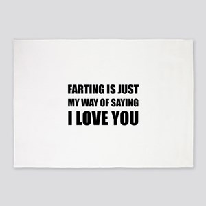 Farting Saying I Love You 5'x7'Area Rug