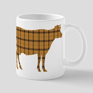 Cow: Orange Plaid 11 oz Ceramic Mug