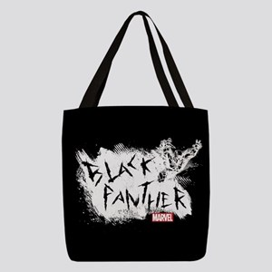Black Panther Scratch Polyester Tote Bag