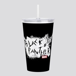 Black Panther Scratch Acrylic Double-wall Tumbler