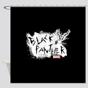 Black Panther Scratch Shower Curtain