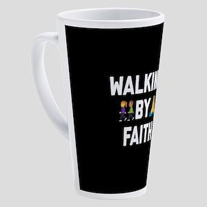 Emoji Walking by Faith 17 oz Latte Mug