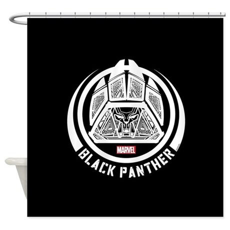 Black Panther Symbol Shower Curtain By Blackpanthercomic