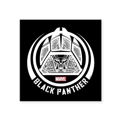 Black Panther Symbol Square Sticker 3 X 3 By Blackpanthercomic