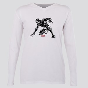 Black Panther Claw Plus Size Long Sleeve Tee