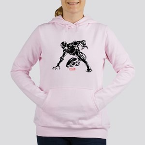 Black Panther Claw Women's Hooded Sweatshirt