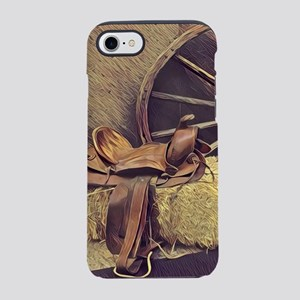 horse saddle western country iPhone 8/7 Tough Case