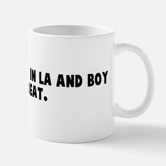 I got arrested in la and boy  Mug