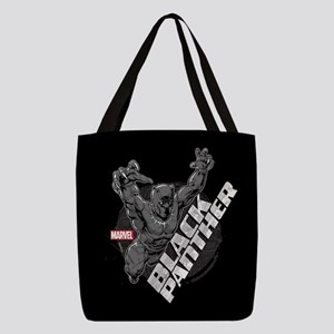 Black Panther Attack Polyester Tote Bag