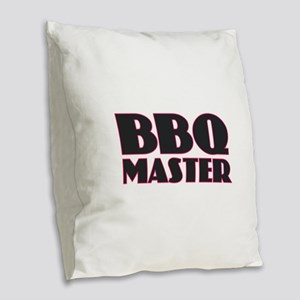 BBQ Master Burlap Throw Pillow