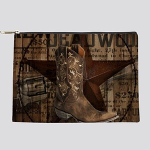 grunge cowboy boots western country Makeup Bag