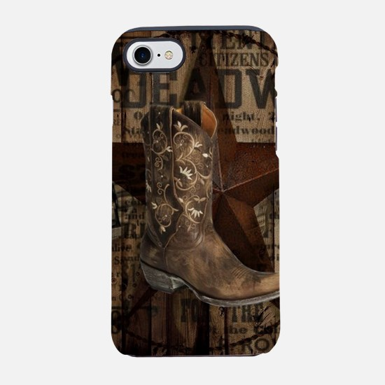 grunge cowboy boots western iPhone 8/7 Tough Case