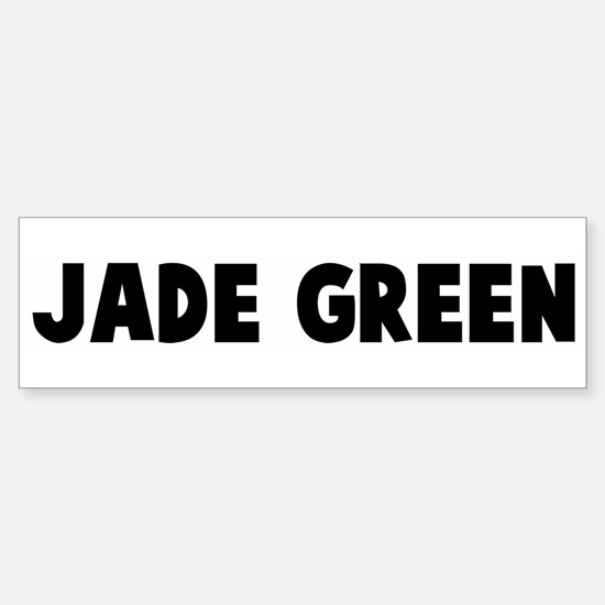 Jade green Bumper Bumper Bumper Sticker